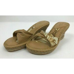 Born Drilles Verano Brown White Floral Sandals 8